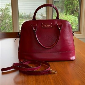 Kate Spade satchel in a beautiful Raspberry Red!